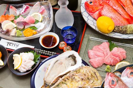 天然生魚片,肝,烤金槍魚等豪華課程